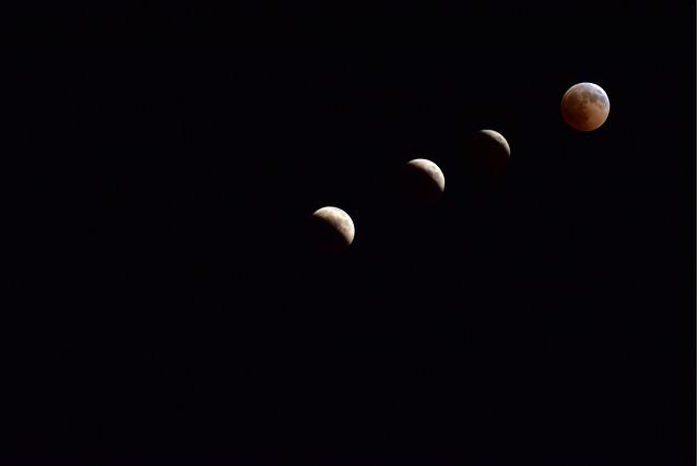フランスの天文台で月食を観察