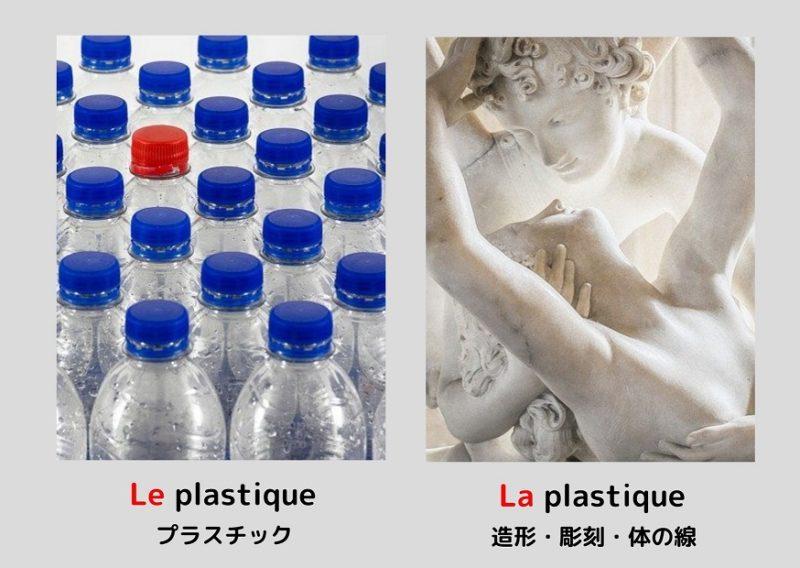 プラスチックと彫刻「plastique」