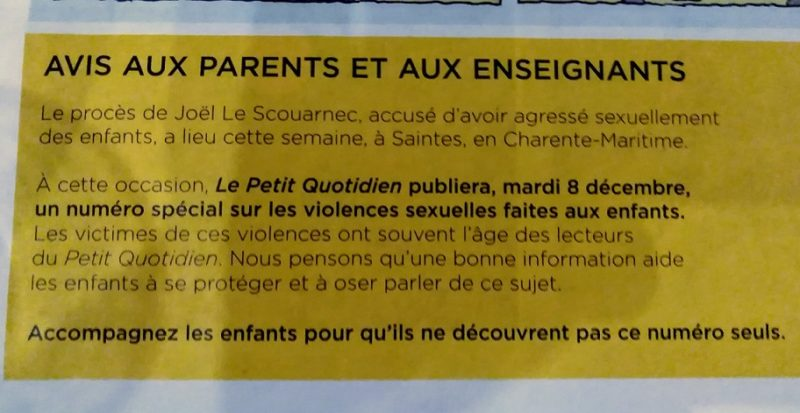小学生用の新聞に書かれた保護者へのメッセージ。
