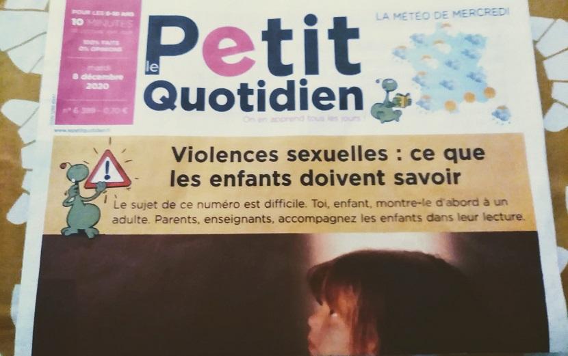 フランスの小学生向け新聞の一面が「児童性的虐待」だった